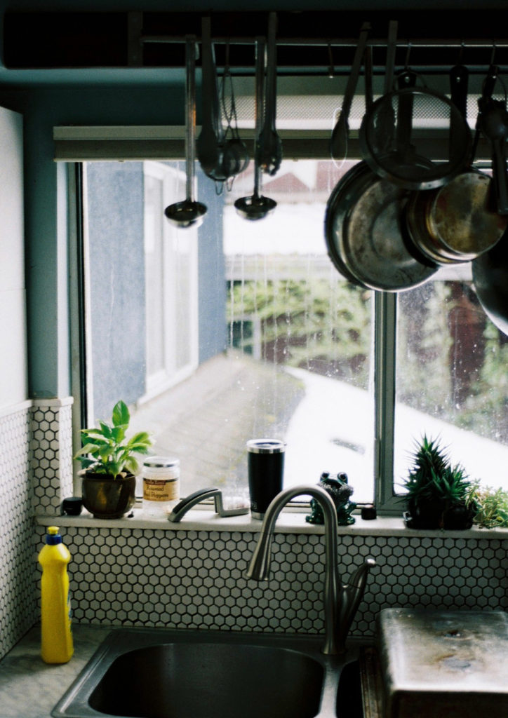 Kitchen sink view